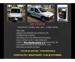 Camioneta Chevrolet ComboVan Año 2008 1.3 Diesel